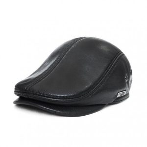 421b9517cd681 Leather flat cap have always been a hat style worn by the trendy youth  among society