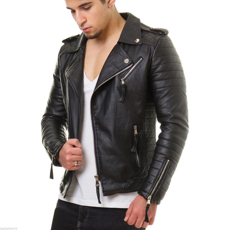 Mens Leather Jackets Designer | Biker Leather Jacket For Men Inspired By The Classic Biker Jacket