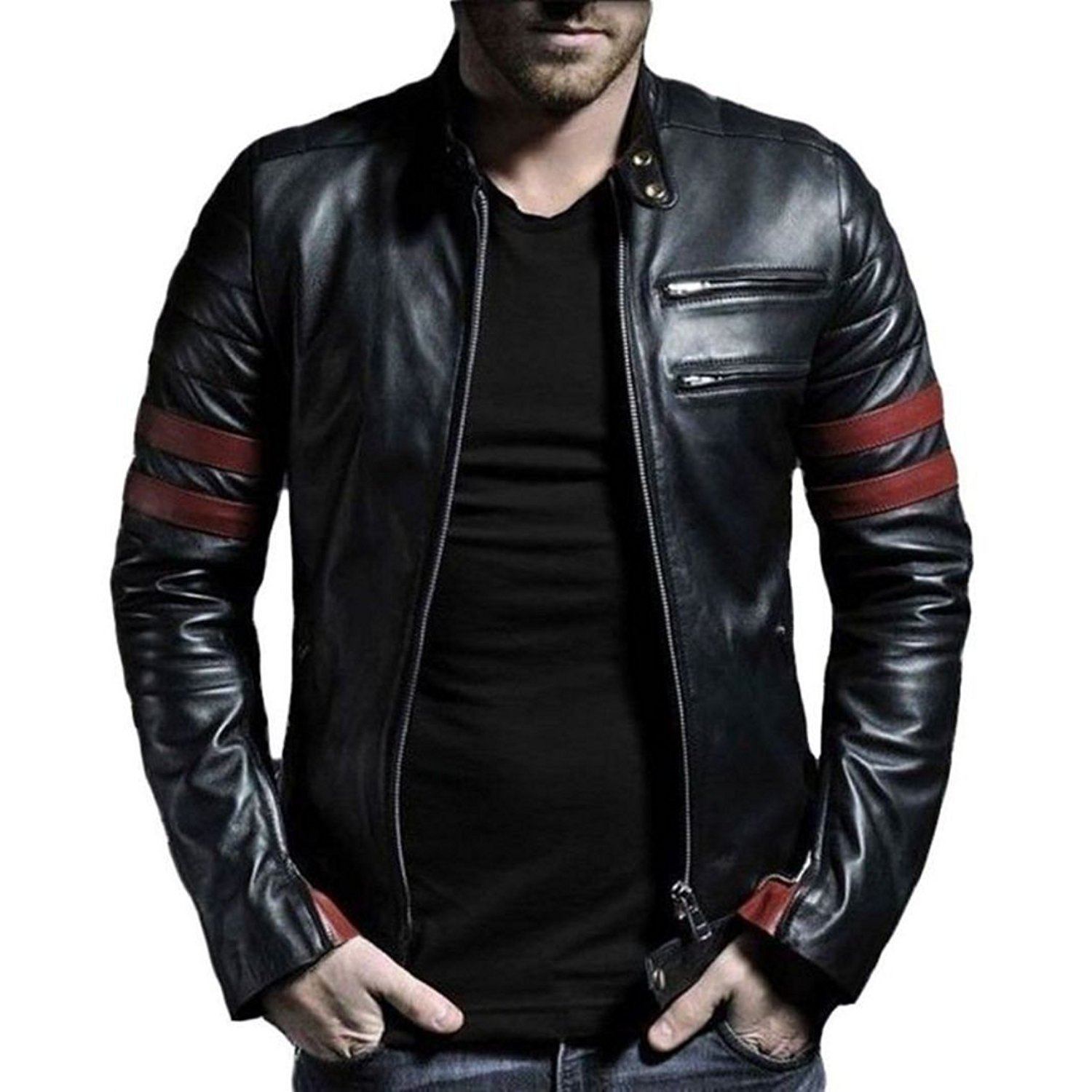 ad60cbad80b Buy Leather Motorcycle Jacket
