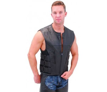 Magnetic Wish Leather Motorcycle Vest