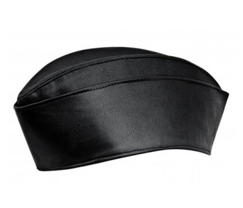 Nameless Hero Leather Garrison Hat Men