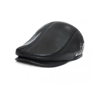 Success Leather Flat Cap