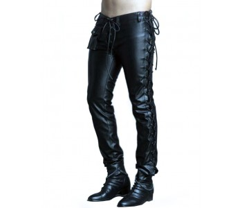 Mens Tight Leather Pants