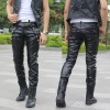 custom made male leather pants