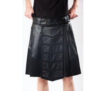 leather utility kilt