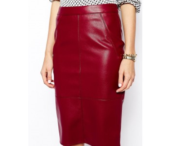 genuine leather skirts