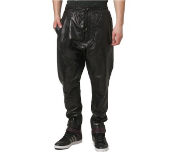 men cargo leather pant