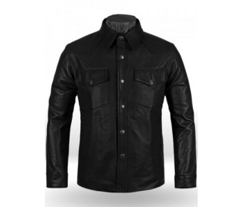 leather shirt men