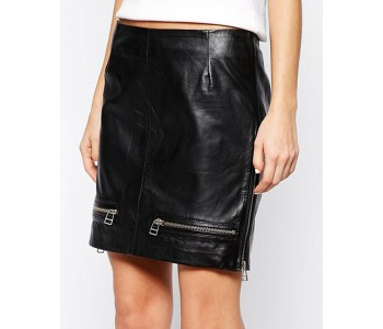 women leather skirts