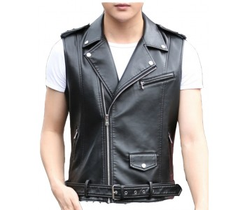 leather police vest