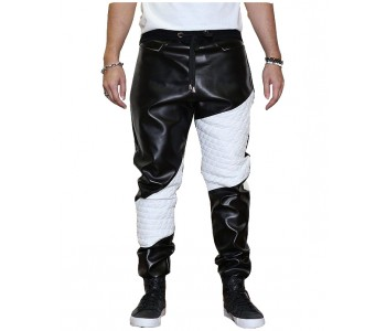 leather strip pant