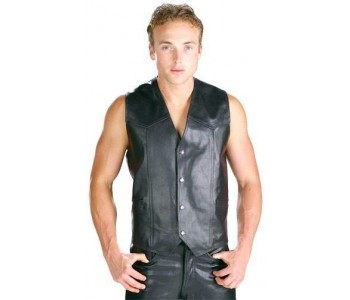 leather vests mens