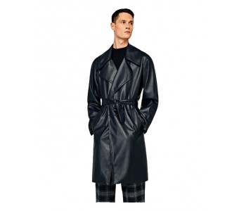 Forever Reserved Leather Coat