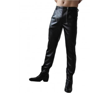 skinny leather pants for men