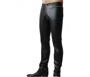 mens fashion leather pant