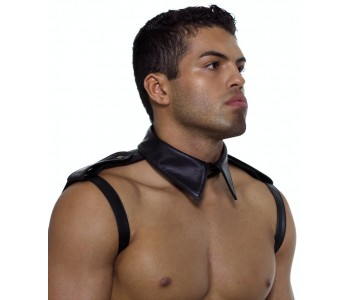 Leather Collar Shirt