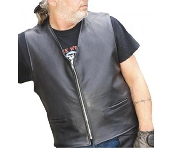soft leather vest men