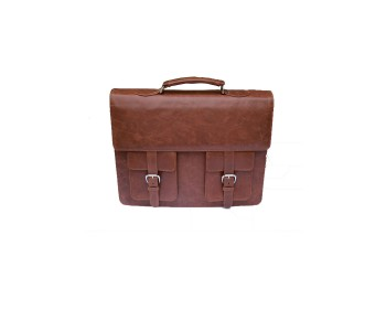 Brown Leather Office Bag for sales