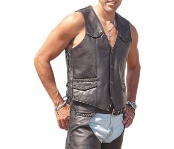 Vivid Instinct Leather Vest