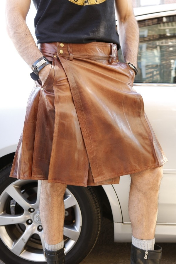 Mens leather kilt