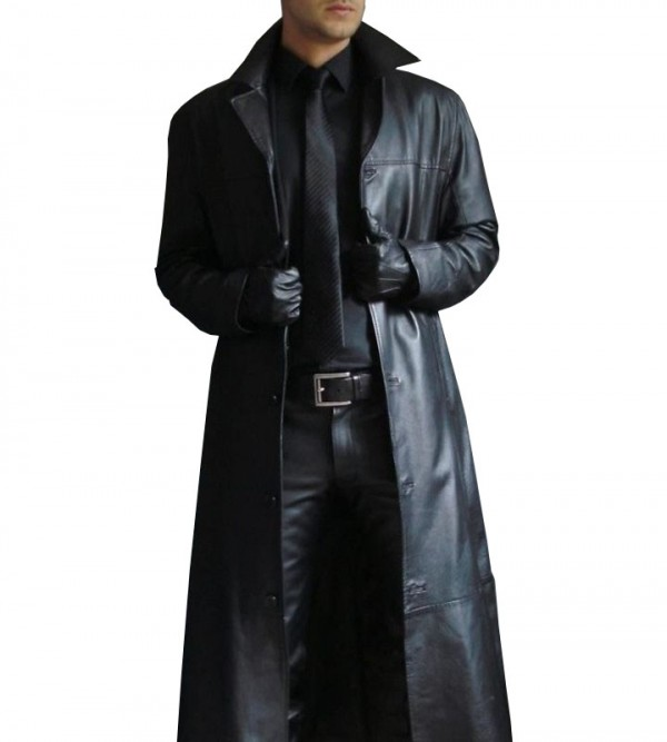 Full Length Leather Trench Coat Buy Men S Trench Coat