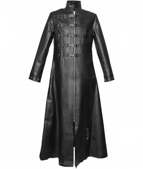 full leather length coat