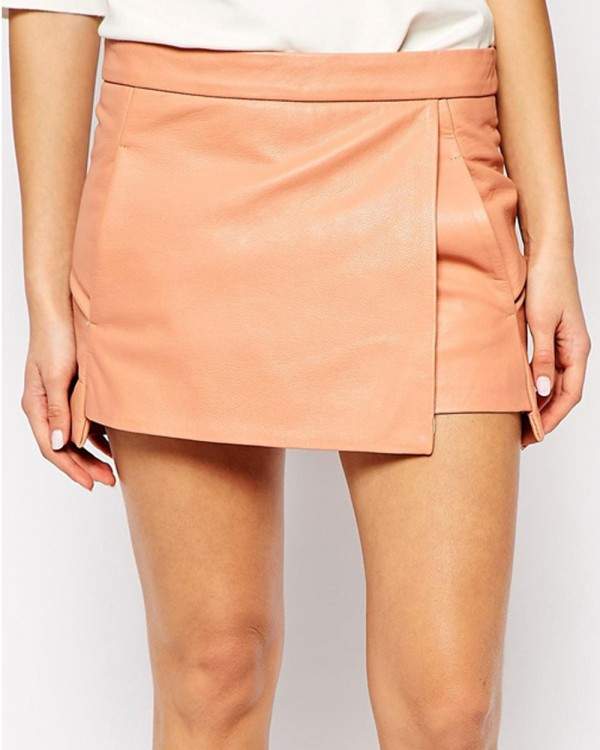 Ganni Mini Skirt in Leather