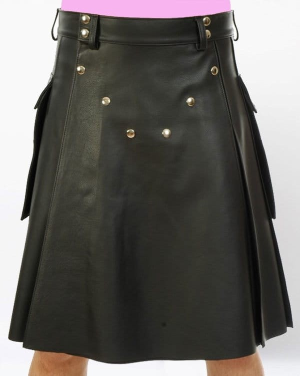 leather kilt for men