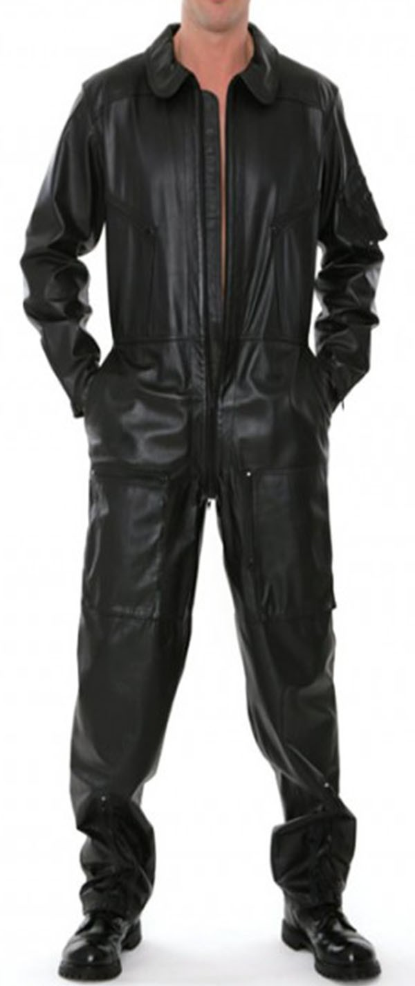 Mens Leather Overalls
