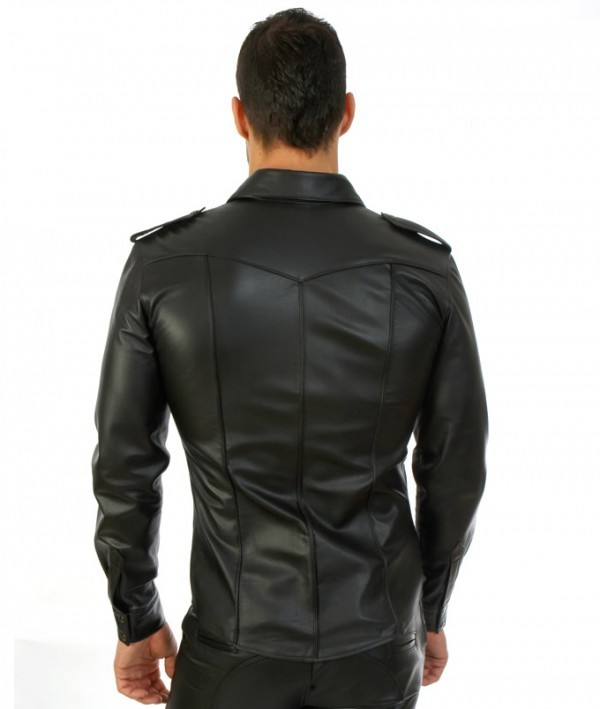 leather shirt back