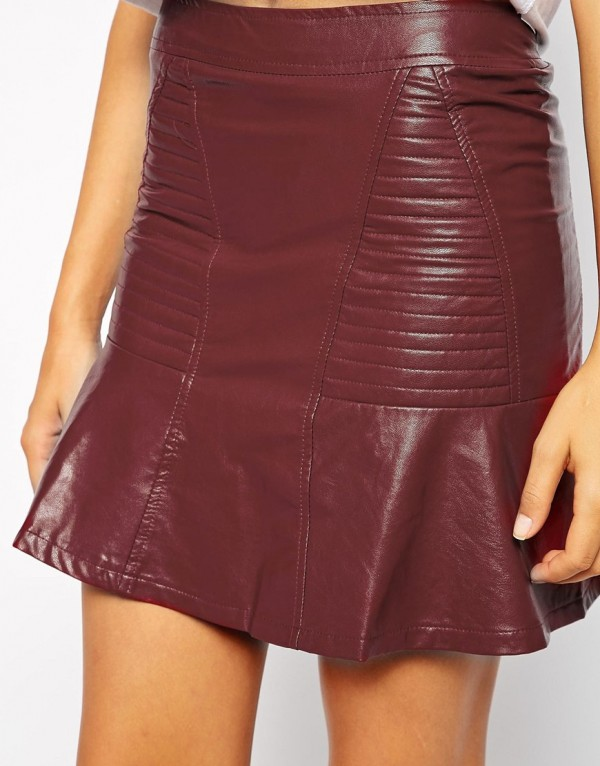 designer leather skirt