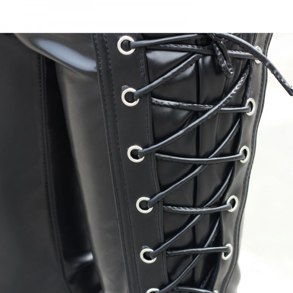 male leather pants black