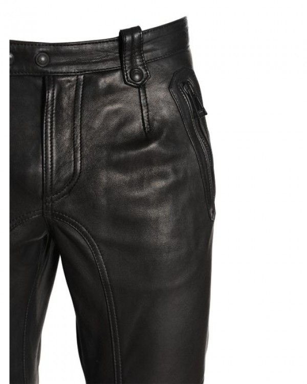 faux leather pants mens