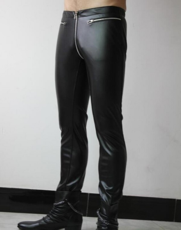 Leather fashion pants