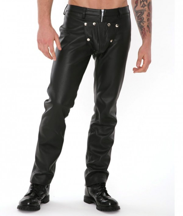 mens leather pant