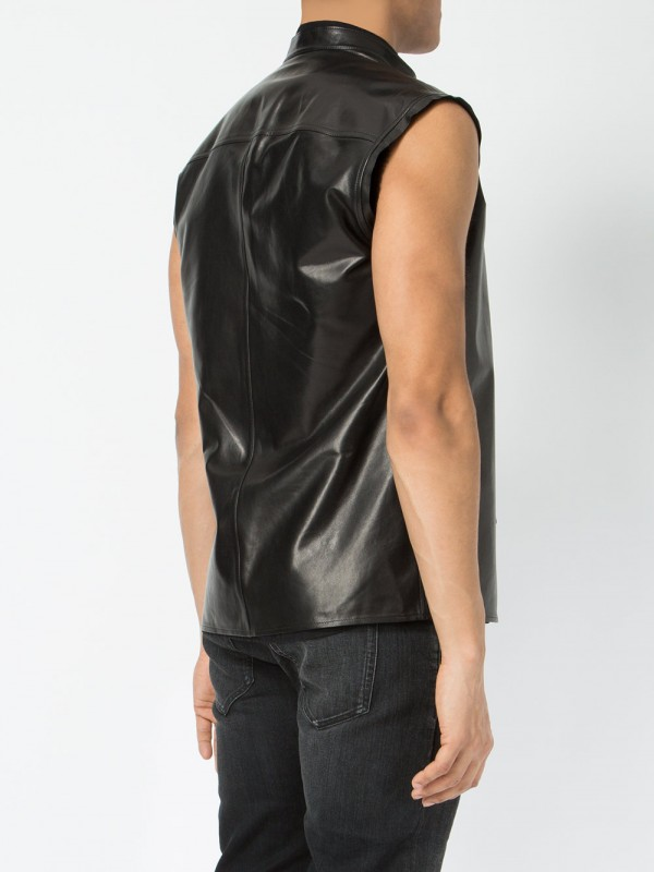 leather shirt sleeve