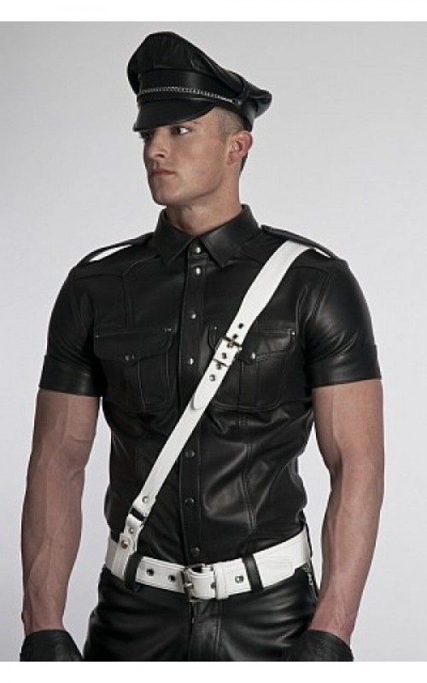 Police Leather Shirt