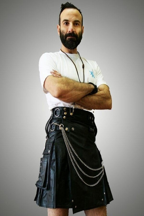 Leather Kilt For Sexy Men
