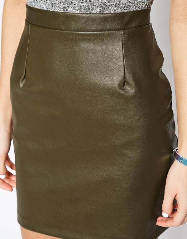 womens leather mini skirts